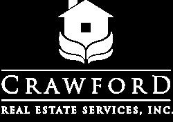 crawford real estate logo white